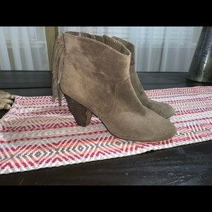 Jessica Simpson fringe brown booties size 8.5